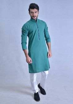 new sea green best pakistani men kurta shalwar kameez designs 2017 with white pajama pants