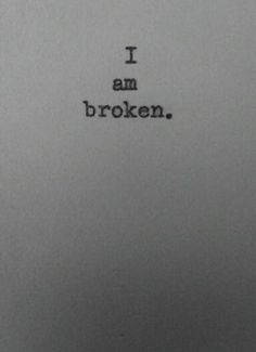 """""""I am broken."""" - Unknown #thelegionseries #kamigarcia #YAbooks #supernatural #paranormal #quotes"""