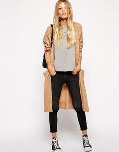 Enlarge ASOS Longline Cardigan with Mohair