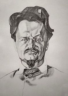 Portrait of Trotsky | 1923 | by Yuri Annenkov