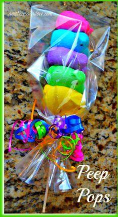 Easter candy | peeps | peep pops | Easter treats