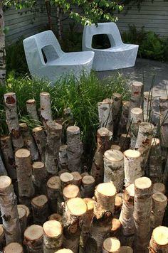 Chelsea Flower Show, 2010. Modern take on a stumpery.
