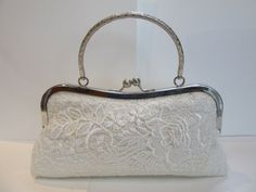 wedding clutch bridal bag lace clutch bag ivory by coutureclutchs