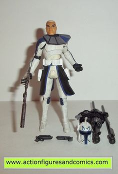 Kenner/Hasbro STAR WARS: 2008 the clone wars animated series action figures for sale to buy 2008 CAPTAIN REX 100% COMPLETE Condition: Excellent - displayed only / collector owned Figure size: approx.