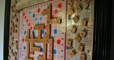 I was inspired by Twice Remembered Cottage's Magnet Board which I first saw on Pinterest . We love to play Scrabble around here well let ...