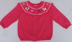 Gymboree Cheery All the Way Pink Westie Dog Cardigan Sweater Sz 3-6 Months NWOT #Gymboree #Cardigan #DressyEveryday