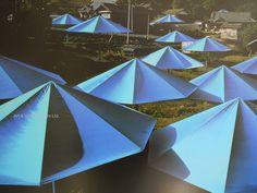 (1) Christo exhibition poster - Blue Umbrellas – Art & Vintage Store Ltd Vintage Art Prints, Vintage Posters, Fine Art Prints, Framed Prints, Yellow Umbrella, Umbrella Art, Temporary Work, Original Vintage, Poster Vintage