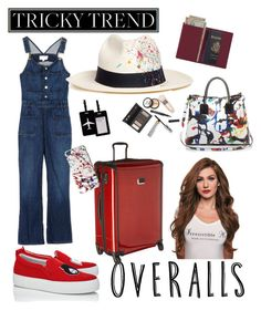"""Let go places♡"" by ahumadarosy on Polyvore featuring Joshua's, Tumi, TravelSmith, Royce Leather, Milly, Marc Jacobs, Sensi Studio, Borghese, TrickyTrend and overalls"