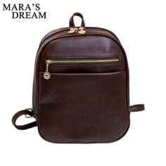 81d65f6d0e3e Mara s Dream 2017 women designer brand backpacks vintage leather shoulder  bag retro small lady schoolbag mochila