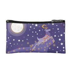 Magical Christmas Cosmetic Bag #reindeer #christmas #holidays #fantasy #animals