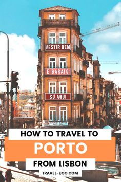 Are you visiting both Porto and Lisbon in Portugal and wondering how to travel to Porto from Lisbon? Then check out this guide on the best way to do so. Porto Travel, Porto Travel Guide, Porto…More Portugal Travel Guide, Europe Travel Guide, Spain Travel, Travel Guides, Travel Destinations, Ways To Travel, Best Places To Travel, Travel Things, Travel Advice