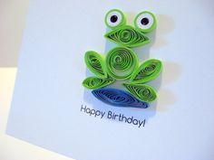 Happy Birthday Frog Card Quilling