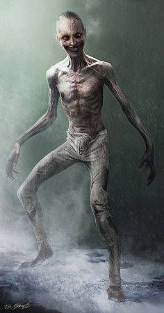Monster Concept Art, Fantasy Monster, Monster Art, Dark Creatures, Fantasy Creatures, Mythical Creatures, Arte Zombie, Zombie Art, Creature Concept Art