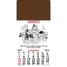 Get the latest stick-on –magnetic cowboys pad press, doodle pad and numerous types of stick on #calendars at https://goo.gl/6hAcXQ    #Businessideas  #promote