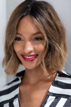Jourdan Dunn's bob is chic and edgy. // #hair