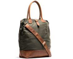 Handmade Canvas & Leather Carryall Bag / Kaufmann Mercantile