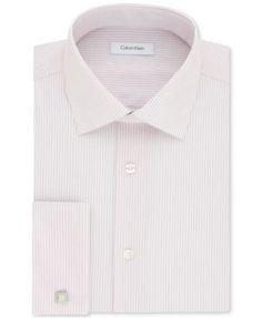 CALVIN KLEIN Calvin Klein Men'S Steel Classic/Regular Fit Non-Iron Performance Rose Stripe French Cuff Dress. #calvinklein #cloth # dress shirts