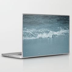 Wave+splashing+on+a+beach+Laptop+&+iPad+Skin+by+ARTbyJWP+-+$30.00