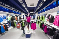Sports Store | Retail Design | Shop Interior | Sports Display | LEEDS, view from entrance