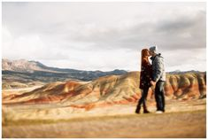 Engagement photos at the Painted Hills in Central Oregon by Katy Weaver