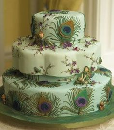 A peacock cake to share in my dream home.
