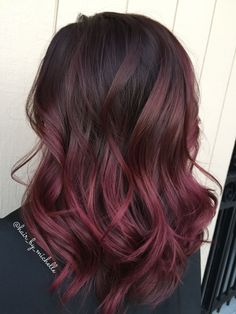35 New Ideas For Hair Color Short Red Dark – dark hair styles Ombre Hair Color For Brunettes, Red Ombre Hair, Brown Hair Colors, Dark Red Hair Dye, Dark Red Ombre, Burgundy Color, Red Hair With Dark Roots, Violet Red Hair Color, Dark Hair With Color