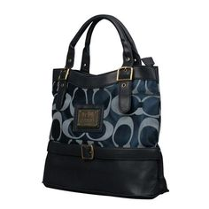 Cheap And Fashion Coach Buckle Logo Medium Navy Satchels EMT Are Here!