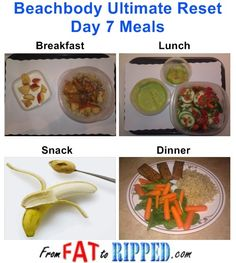 Beachbody Ultimate Reset Day 7 Meals