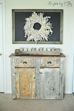 Home by Ally: Shabby Chic Hutch reveal & how to achieve a RUSTIC wood look