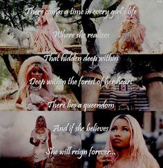 #nickiminaj #pink #minajesty #quote #love Nicki Minaj Lyrics, Girls Life, Every Girl, Reign, Believe, Girly, Words, Quotes, Pink
