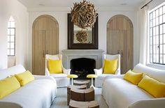 Living room layout. Verellen Upholstery via Maddie G Designs - Kay Douglas Drysdale