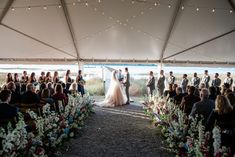 Wedding Wednesday: The Flowers and Reception Decor - By, Hilary Rose Reception Decorations, Event Decor, Cafe Lighting, Groomsmen Looks, Romantic Themes, Magnolia Leaves, Delphinium, Types Of Flowers, Something Beautiful