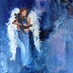 Angels Paintings - Dogs Need Angels by Judy Mackey