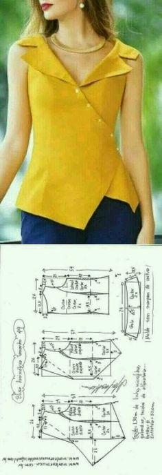 Sewing blouse pattern shape 51 new Ideas Tie Dye Shirts, Cut Up Shirts, T Shirt Yarn, T Shirt Diy, Blouse Patterns, Clothing Patterns, Blouse Designs, Sewing Patterns, Stitching Patterns