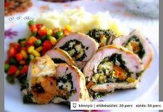 Spenótos-fetás csirke