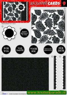 Nieuw bij Knutselparade: 0942 Studio Light black&white  cards 09 https://knutselparade.nl/nl/knipvellen/7358-0942-studio-light-blackwhite-cards-09.html   Stansvellen, Knipvellen -  Studio Light