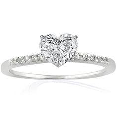 heart diamond wedding ring - Google Search