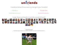 Aplicativo para Facebook que identifica quando um amigo o exclui.