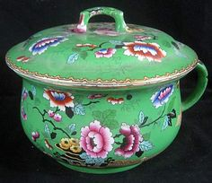 shopgoodwill.com: Antique Hand-Painted Floral Motif Chamber Pot