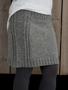 Diy Crafts - Type:SolidThickness:LightweightMaterial:Cotton-blendOccasion:DailyStyle:CasualTheme:Winter,FallColor:GraySize:S,M, Knit Skirt, Dress Skirt, Crochet Mug Cozy, Gray Dress, Pretty Outfits, Casual Outfits, Skirts, Cotton, Fashion Design