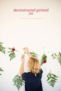 desconstructed garland DIY