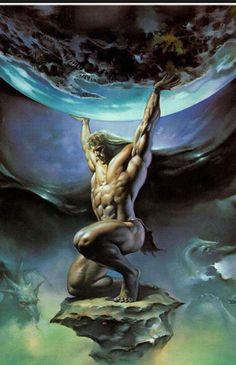 Greek God - Atlas : represents struggle and adversity