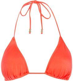 Love this: Fluro Orange Triangle Bikini Top @Lyst