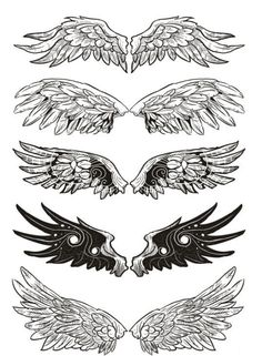 $1.99 - Waterproof Temporary Fake Tattoo Stickers Cool Black Grey Angel Wings Classic #ebay #Fashion
