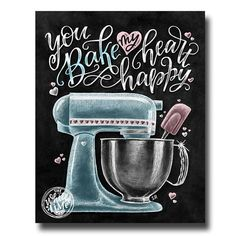 Life Is What You Bake It Kitchen Wall Art Chalk Art Kitchen Mixer Baking Wall Decor Chalkboard Art Baking Sign Kitchen Art Decor Kitchen Chalkboard, Chalkboard Decor, Chalkboard Print, Kitchen Signs, Kitchen Wall Art, Kitchen Decor, Herbalife Shake Recipes, Art Decor, Decoration
