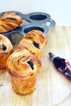 Blueberry Cruffin. Make in Muffin Pan.
