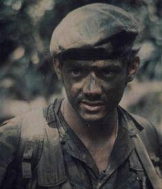 Vietnam War Green Beret, 1970. http://www.pinterest.com/jr88rules/vietnam-war-memories/ #VietnamMemories