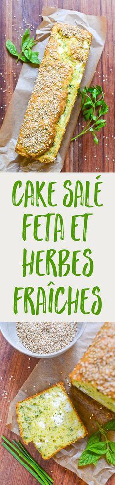Une recette facile pour un cake salé moelleux, frais et irrésistible, à la feta et aux herbes fraîches. À adopter illico pour vos pique-niques et buffets !