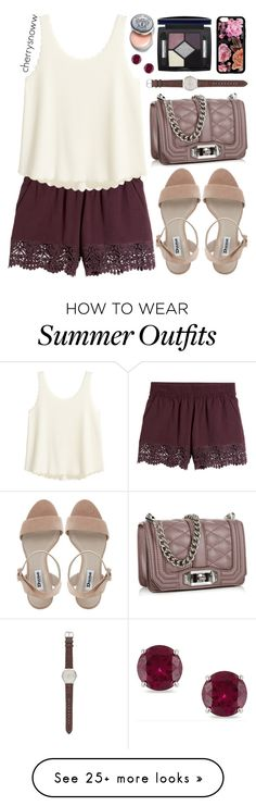 """Casual chic plum summer outfit"" by cherrysnoww on Polyvore featuring J.Crew, Rebecca Minkoff, Christian Dior, Bobbi Brown Cosmetics and Miadora"