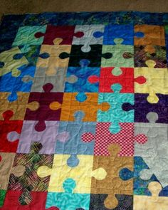 Autism Awareness Scrap Quilt